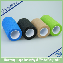 medical cohensive non woven colored elastic bandage